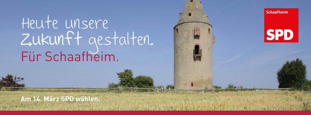 Heute die Zukunft gestalten. Für Schaafheim. Am 14 März 2021 SPD wählen.