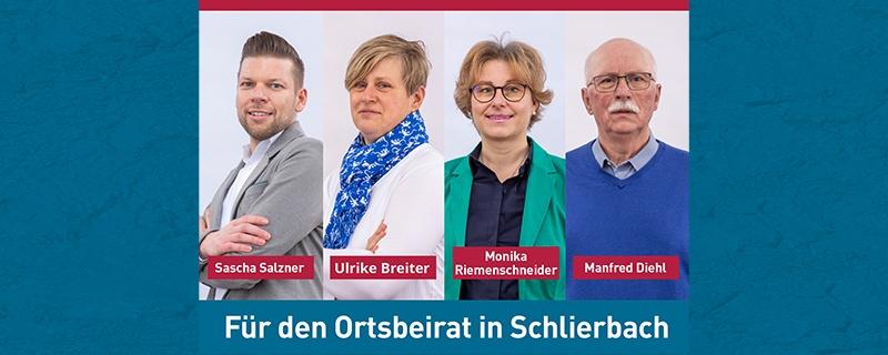 Wir stellen vor: Unsere Kandidaten für die Wahl zum Ortsbeirat in Schlierbach am 14. März 2021