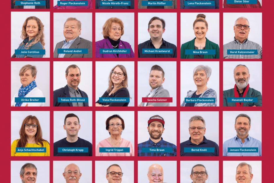 Alle unsere Kandidatinnen und Kandidaten für die Kommunalwahl am 14. März 2021.