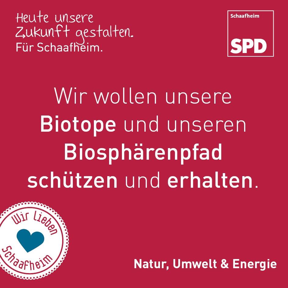 Wir wollen unsere Biotope und unsere Biosphärenpfad schützen und erhalten.