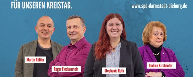 4 Starke Kandidaten und Kandidatinnen für unseren Kreistag.