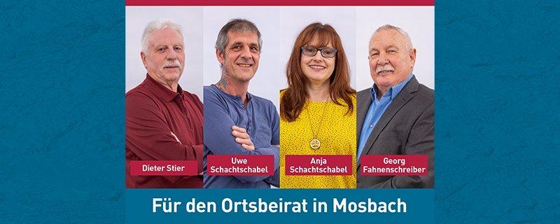 Wir stellen vor: Unsere Kandidaten für die Wahl zum Ortsbeirat in Mosbach am 14. März 2021