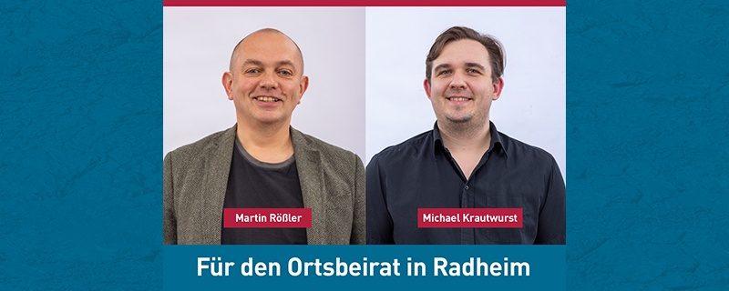 Unsere Kandidaten für die Wahl zum Ortsbeirat in Radheim am 14. März 2021